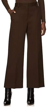The Row Women's Ina Wool Wide-Leg Crop Trousers - Brown