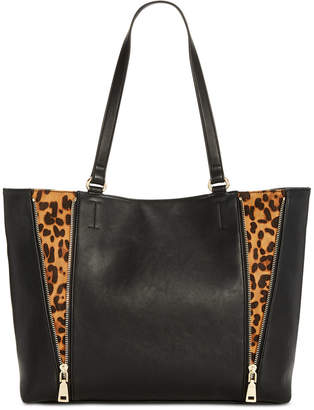 INC International Concepts I.n.c. Averry Side Zip Leopard Tote