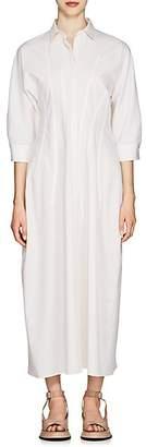 Jil Sander Women's Seam-Detail Wool-Blend Twill Dress - White
