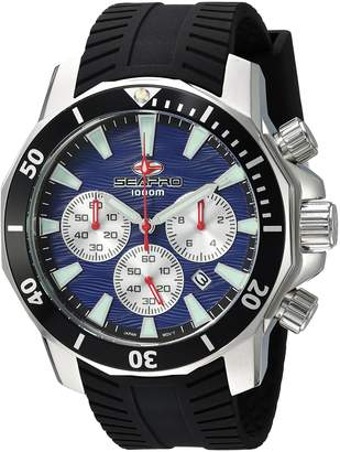 Seapro Men's Casual Scuba Dragon Diver Limited Edition 1000 Meters Dial Quartz Watch (Model: SP8345S)