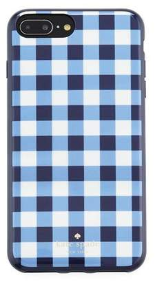 Kate Spade gingham resin phone case for iPhone® 7/8 Plus