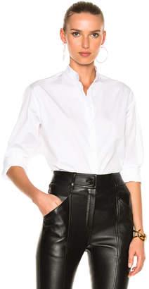 Victoria Beckham Cotton Shirting Grandad Shirt