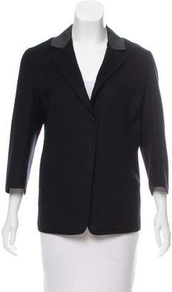 Agnona Leather-Trimmed Cashmere Jacket