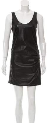 Jay Ahr Leather Mini Dress