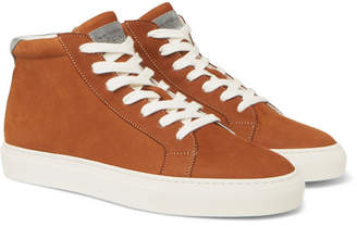 Brunello Cucinelli Nubuck High-Top Sneakers - Men - Tan