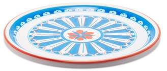 Les Ottomans - Hand Painted Iron Tray - Blue Multi