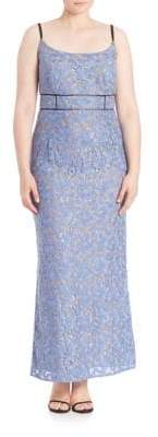 ABS by Allen Schwartz Floral Lace Gown