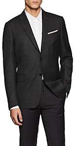 Valentino MEN'S PLAID VIRGIN WOOL FLANNEL TWO-BUTTON SPORTCOAT