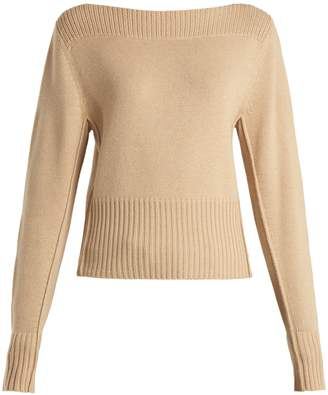 Chloé Boat-neck cashmere sweater