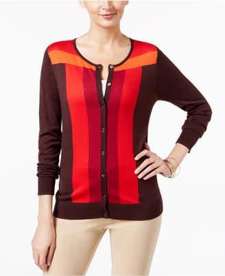 August Silk Colorblocked Cardigan $36.98 thestylecure.com