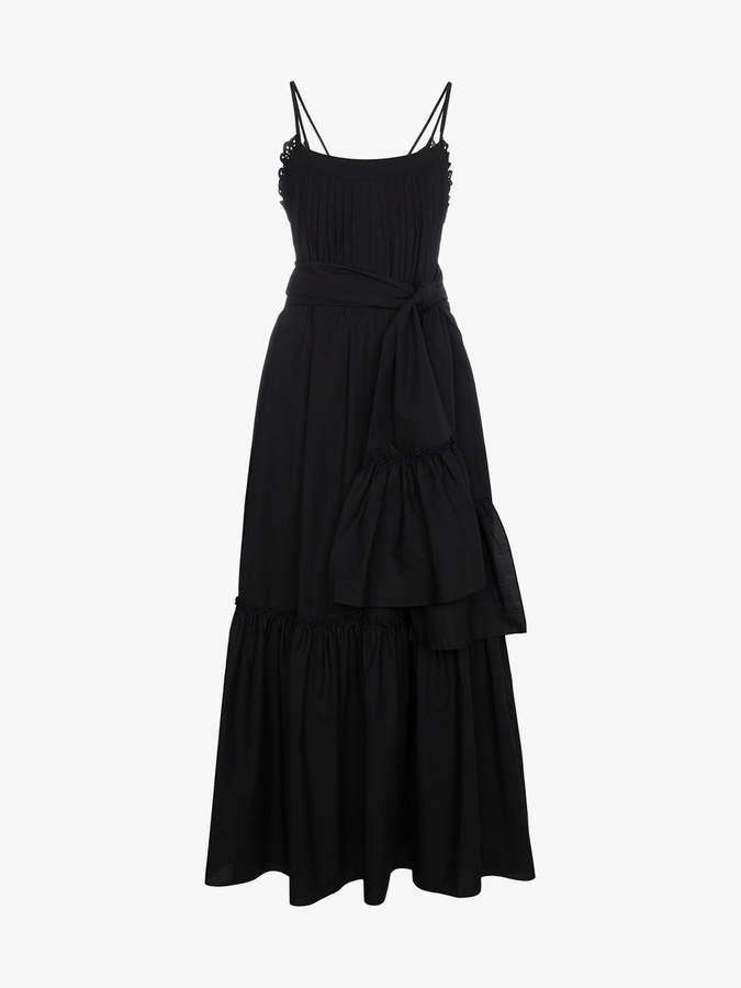 Three Graces Ariadne Pin-Tucked Dress