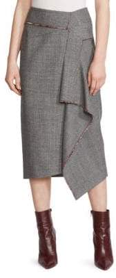 Roland Mouret Peterson Wool Midi Skirt