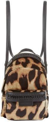 Stella McCartney Mini Falabella Go Leopard Print Backpack