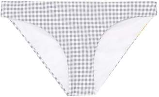 Onia 'Lily' mixed fruit print gingham check bikini bottoms