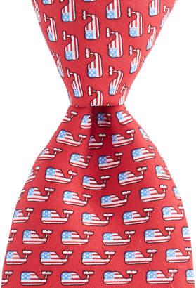 Vineyard Vines Flag Whale Tie