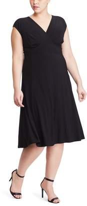 Chaps Plus Size Surplice Fit & Flare Dress