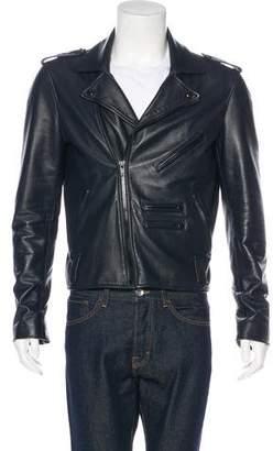 Pyer Moss Leather Moto Jacket