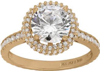 FINE JEWELRY Diamonart Womens 2 1/2 CT. T.W. Lab Created White Cubic Zirconia 10K Gold Engagement Ring
