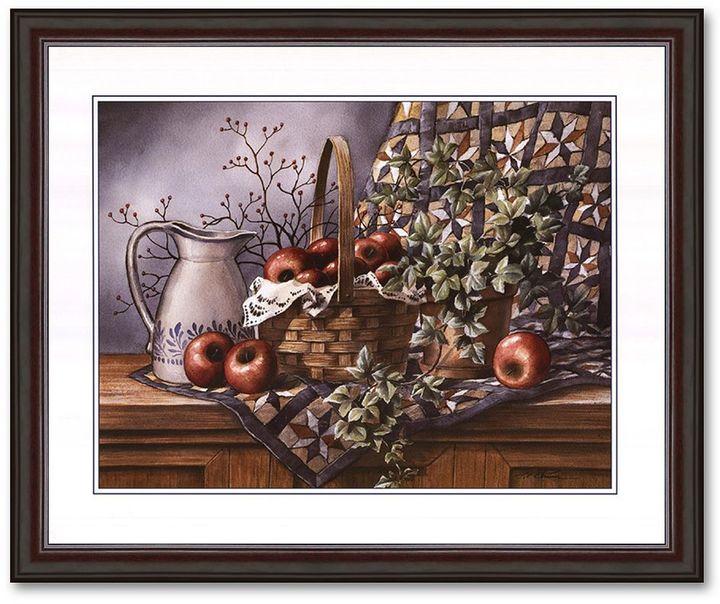 "KitchenArt ""Quilt, Pitcher and Apples"" Framed Art Print by T.C. Chiu"