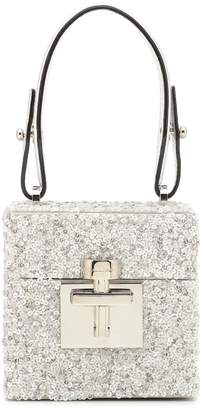 Oscar de la Renta Alibi Mini sequined shoulder bag