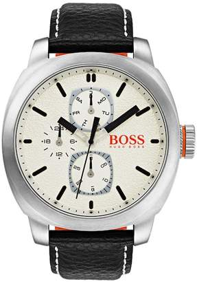 BOSS Men's Cape Town Leather Watch, 46mm