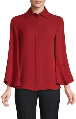 Valentino Women's Bell-Sleeve Silk Blouse