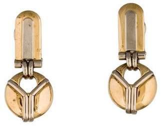 18K Two-Tone Drop Earrings