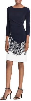 Lauren Ralph Lauren Paisley-Print Sheath Dress $150 thestylecure.com