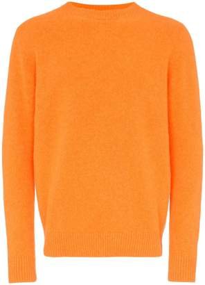 The Elder Statesman orange cashmere crew neck sweater