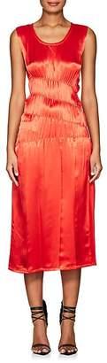 Helmut Lang WOMEN'S RUCHED SATIN TANK DRESS