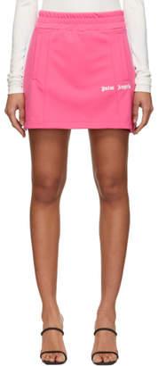 Palm Angels Pink Track Miniskirt