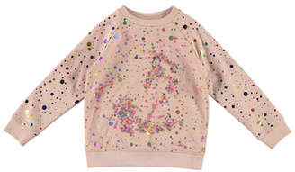Stella McCartney Girl's Sequin Tulle Layer Sweatshirt, Size 4-14