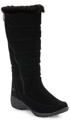 Khombu Abby Faux Fur-Accented Mid-Calf Boots $99 thestylecure.com
