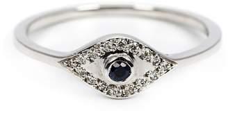 Ileana Makri sapphire and diamond eye ring