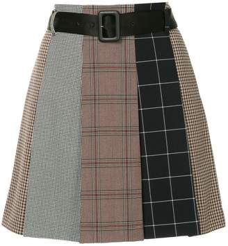 GUILD PRIME checked asymmetric skirt