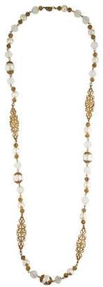 Miriam Haskell Pearl & Crystal Necklace