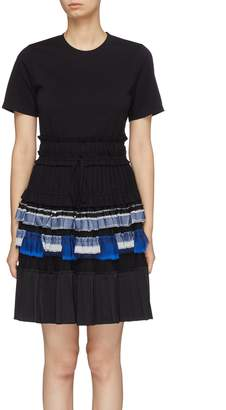 3.1 Phillip Lim Colourblock pleated tiered T-shirt dress
