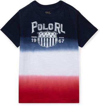 Ralph Lauren Childrenswear Ombre Short-Sleeve Logo T-Shirt, Size 2-4