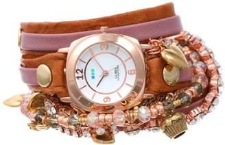 La Mer Women's LMMULTI2008 Champagne Crystal Wrap Watch