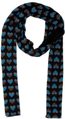 Diane von Furstenberg Wool Heart Print Scarf $45 thestylecure.com
