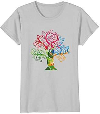 Womens Colorful Vintage Tree Of Life Is The Dream Of Good Art Shirt