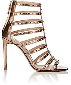 Valentino WOMEN'S LOVESTUD METALLIC LEATHER CAGED SANDALS - COPPER SIZE 10 00505053229151