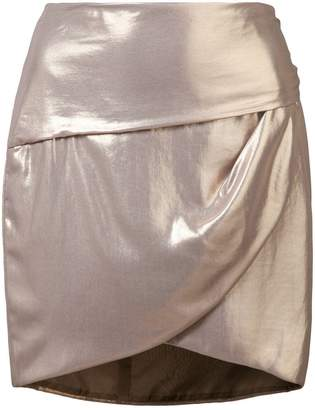 Michelle Mason gathered mini skirt