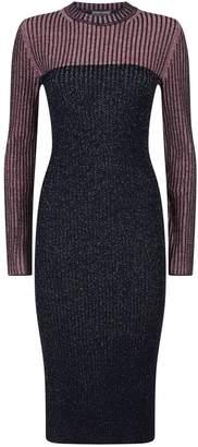 Sportmax Pania Metallic Stripe Knit Dress