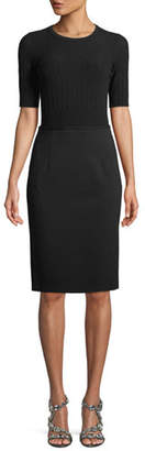 Escada Short-Sleeve Knit Top Jersey Bottom Dress