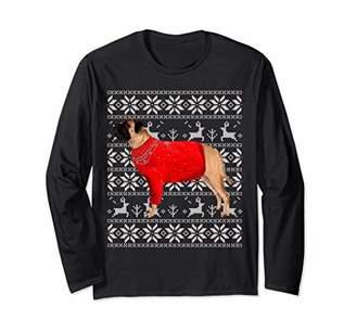 Bullmastiff Ugly Christmas 2018 Sweater long sleeve