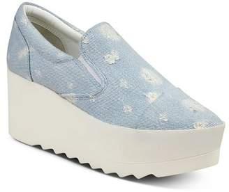 KENDALL + KYLIE Women's Tanya Platform Wedge Slip-On Sneakers