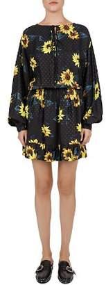 The Kooples Sunflower Dot Peasant Dress