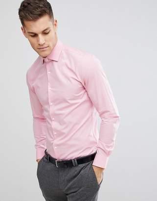 Michael Kors Slim Easy Iron Smart Shirt In Pink