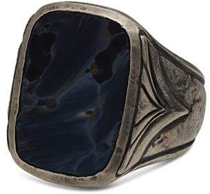 John Varvatos Collection Sterling Silver Rectangle Pietersite Ring